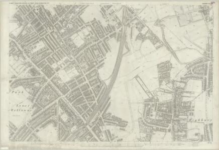 London (First Editions c1850s) IX (includes: Hornsey St Mary; Islington; Stoke Newington) - 25 Inch Map