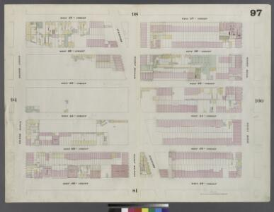 Plate 97: Map bounded by West 47th Street, Sixth Avenue, West 42nd Street, Eighth Avenue