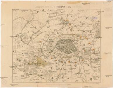 Topographische Karte von Paris und Gegend