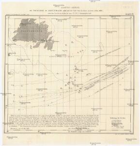 Karten-Skizze des Treibeises bei Newfundland während der Zeit vom 11. März bis zum 5. Mai 1891, nach den Berichten, welche bis zum 20. Mai eingegangen sind