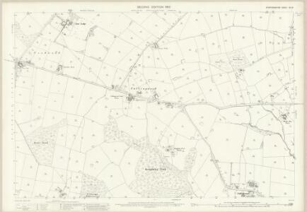 Staffordshire XL.10 (includes: Anslow; Branston; Tatenhill) - 25 Inch Map