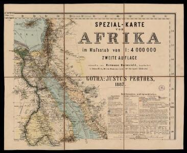 Spezial - karte von AfricaSektion Ägypten (3)