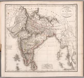Carte de la Inde
