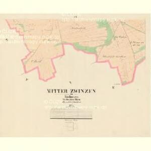 Mitter Zwinzen - c6137-1-004 - Kaiserpflichtexemplar der Landkarten des stabilen Katasters