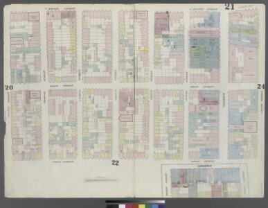 [Plate 21: Map bounded by Houston Street, Crosby Street, Broome Street, Broadway, Spring street, Sullivan Street]