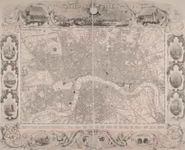 THE RAILWAY BELL AND THE ILLUSTRATED LONDON ADVERTISER MAP OF LONDON