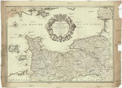 Le gouvernement general de Normandie, divisé en Haute et Basse