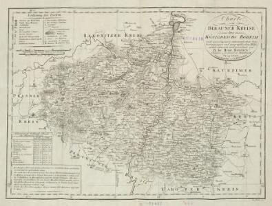 Charte vom Berauner Kreise des Königreichs Böheim nach zu verlässigen astronomischen Ortsbestimmungen und geographischen Hülfsmitteln