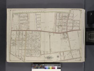 Queens, V. 1, Double Page Plate No. 1; Part of Jamaica, Ward 4; [Map bounded by Forest Park, Willard Ave., Vanderveer Pl., Atlantic Ave., Rockaway Plank Rd., Elderts Ln.]