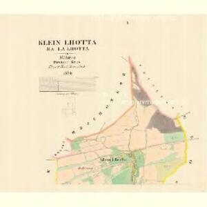 Klein Lhotta (Mala Lhotta) - m1686-1-001 - Kaiserpflichtexemplar der Landkarten des stabilen Katasters