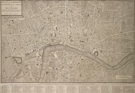 PLAN OF LONDON WESTMINSTER and the BOROUGH of SOUTHWARK with all the additional Streets, Squares, & c also the improved ROADS to the Year (1772) From the best Authors.