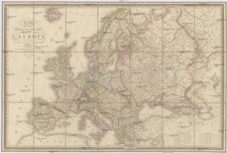 Carte physique et politique de l'Europe