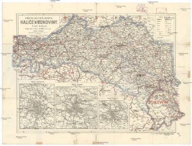 Přehledná mapa Haliče a Bukoviny
