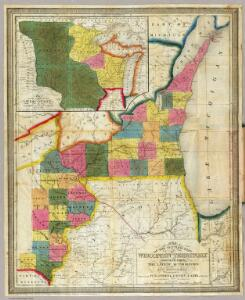Map of the Settled Part of Wisconsin Territory.