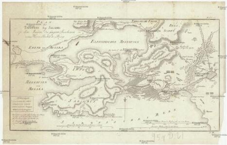 Plan des Treffens bey Salamis