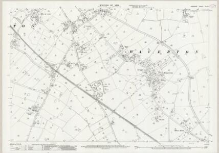 Cheshire XLVII.1 (includes: Hatton; Rowton; Saighton; Waverton) - 25 Inch Map