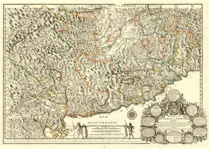 Carte du Piemont et du Monferrat