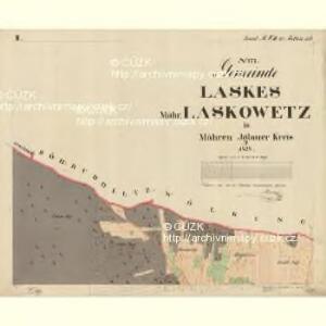 Laskes - m3434-1-002 - Kaiserpflichtexemplar der Landkarten des stabilen Katasters