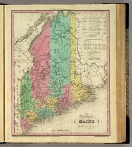 New Map of Maine.