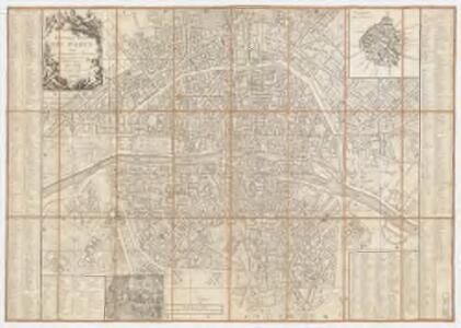Nouveau plan de Paris : avec les augmentations et changemens qui on été faits pour son embellissement