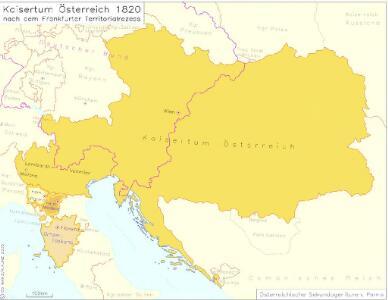 Kaisertum Österreich 1820 nach dem Frankfurter Territorialrezess