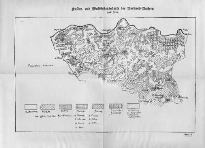Kultur- und Waldbestandskarte des Nordwest-Bachern