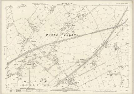 Cheshire XXXVIII.8 (includes: Great Boughton; Guilden Sutton; Hoole Village; Hoole; Mickle Trafford; Upton by Chester) - 25 Inch Map
