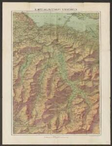 Karte des Bezirkes Einsiedeln
