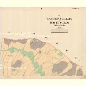 Gatterschlag - c2965-1-001 - Kaiserpflichtexemplar der Landkarten des stabilen Katasters