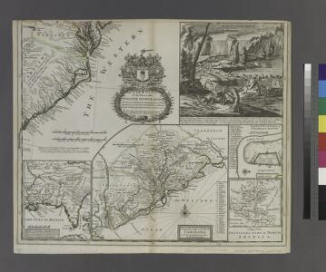 A new and exact map of the dominions of the King of Great Britain on ye continent of North America: containing Newfoundland, New Scotland, New England, New York, New Jersey, Pensilvania, Maryland, Virginia and Carolina / according to the newest and most exact observations by Herman Moll, geographer.