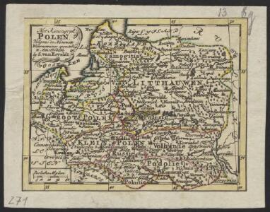 Het Koningkryk Polen, volgens de nieuwste waarneminge opgesteld