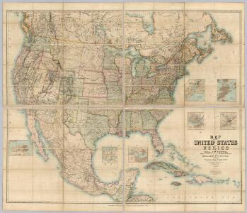 Map Of The United States And Mexico.