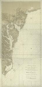A chart of the coast of New York, New Jersey, Pensilvania, Maryland, Virginia, North Carolina, & c.
