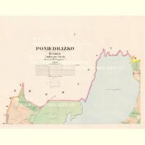 Poniedražko - c6007-1-001 - Kaiserpflichtexemplar der Landkarten des stabilen Katasters