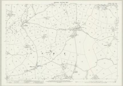Cornwall LXXX.7 (includes: Cury; Mawgan in Meneage) - 25 Inch Map