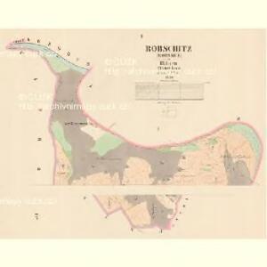 Robschitz (Robssice) - c6485-1-001 - Kaiserpflichtexemplar der Landkarten des stabilen Katasters
