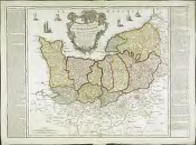 Carte de la province de Normandie qui comprend les gouvernements militaires de Normandie et du Havre de Grace