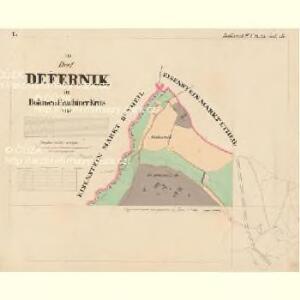 Deffernik - c1075-1-001 - Kaiserpflichtexemplar der Landkarten des stabilen Katasters