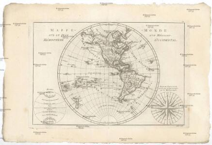 Mappe-monde sur le plan d'un méridien