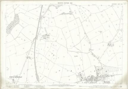Shropshire XXI.11 (includes: Broughton; Clive; Myddle; Wem Rural) - 25 Inch Map