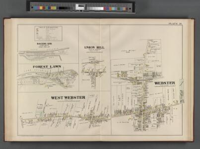 Monroe County, Double Page Plate No. 30  [Map of Bakers Sub. of E. part of Sand Bar lot., Union Hill town of Webster, Webster, W. Webster]