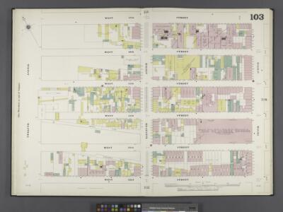 Manhattan, V. 6, Double Page Plate No. 103 [Map bounded by W. 57th St., 10th Ave., W. 52nd St., 12th Ave.]