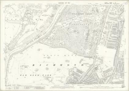 Surrey I.16 (includes: Heston and Isleworth; Kew; North Sheen; Richmond) - 25 Inch Map