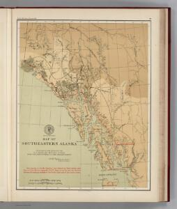 Facsimile:  U.S. Coast Survey Southeastern Alaska (portion).