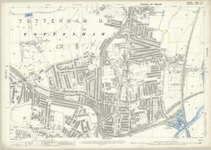 London (Edition of 1894-96) XIII (includes: Tottenham) - 25 Inch Map