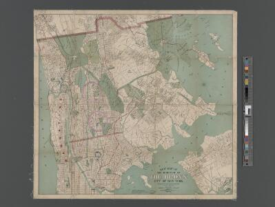 New Map of the Borough of the Bronx, City of New York . . . Circular stickers mark Carnegie Library sites.