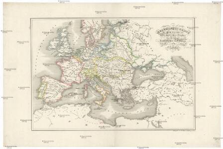 Uebersichts-Karte für die Zeit vom westphälischen Frieden bis zur französischen Revolution 1789