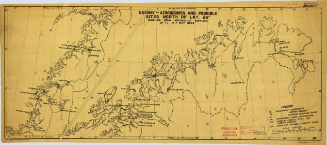 Norway-Aerodromes and possible sites North of Lat,65 (1940)
