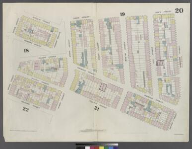 Plate 20: Map bounded by Hamersley Street, Houston Street, Sullivan Street, Spring street, Thompson Street, Grand Street, Sullivan Street, Broome Street, Clarke Street, Spring Street, Varick Street.