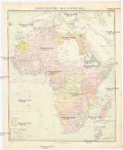 Carte politique de l'Afrique 1897